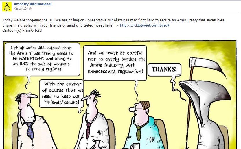 Nonprofits on social media - Amnesty