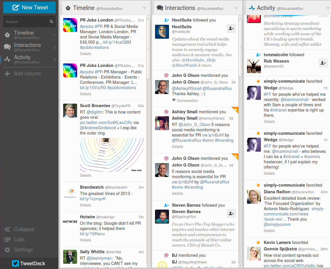 tweetdeck screenshot