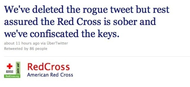 social media crisis management example from RedCross