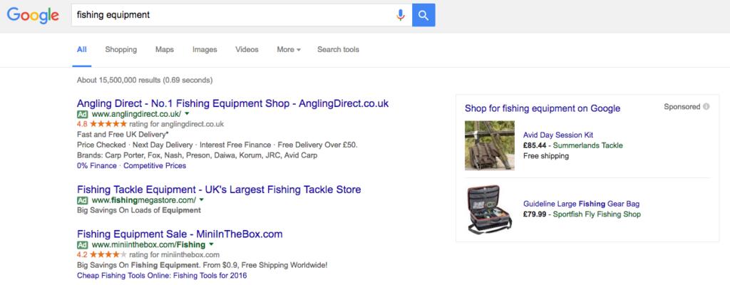 Paid media adverts on google