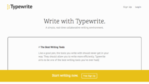 Typewrite writing tool