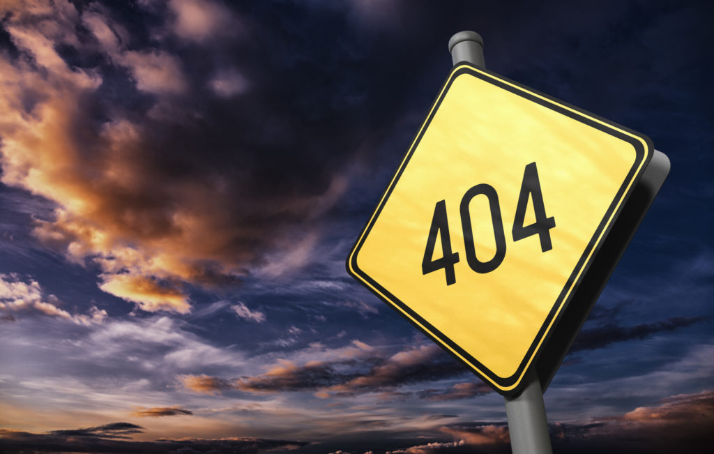 404 Not Found - Road Sign