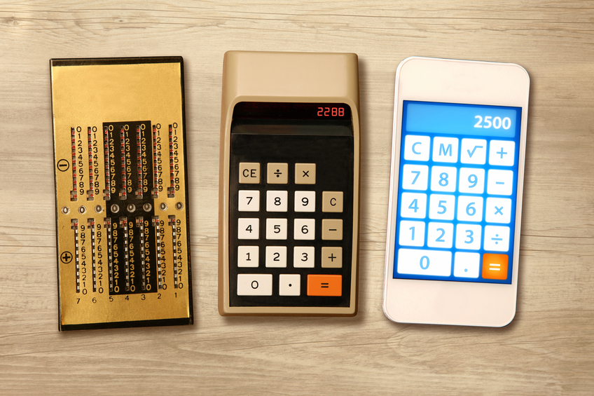 Technology evolution: comparing calculators almost one hundred years distant