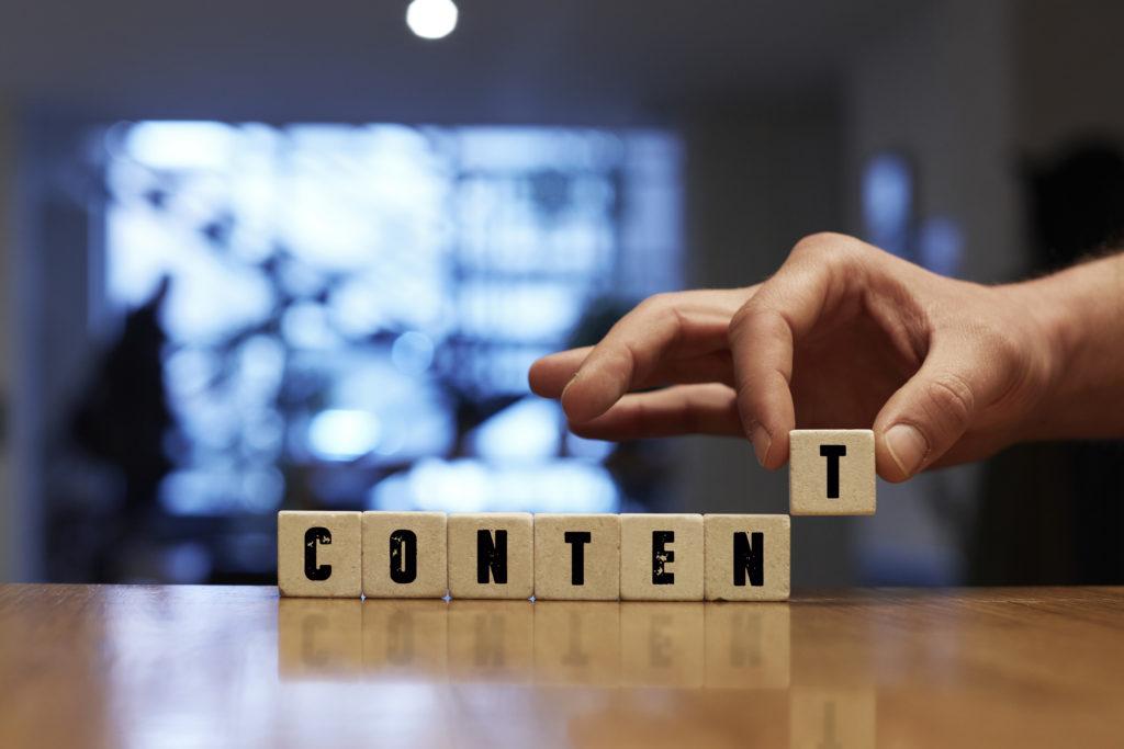 Content wooden blocks