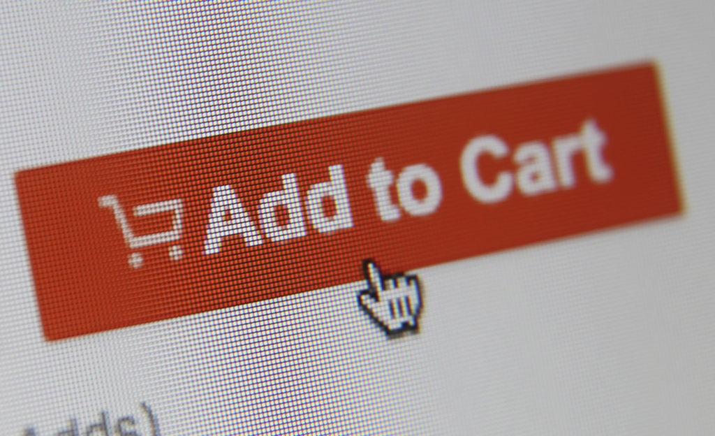 E-commerce internet shopping add to cart