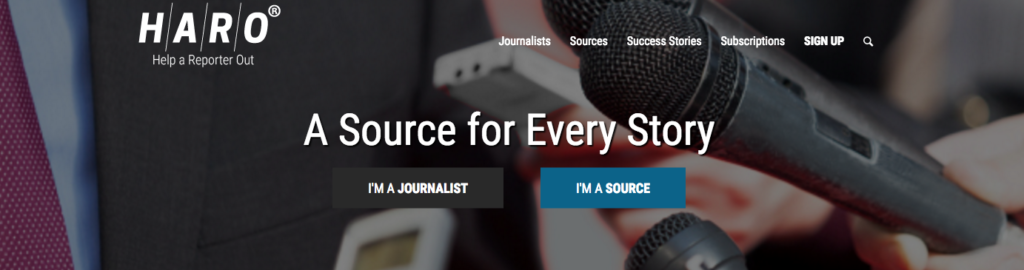 HARO connects you with journalists looking for a source