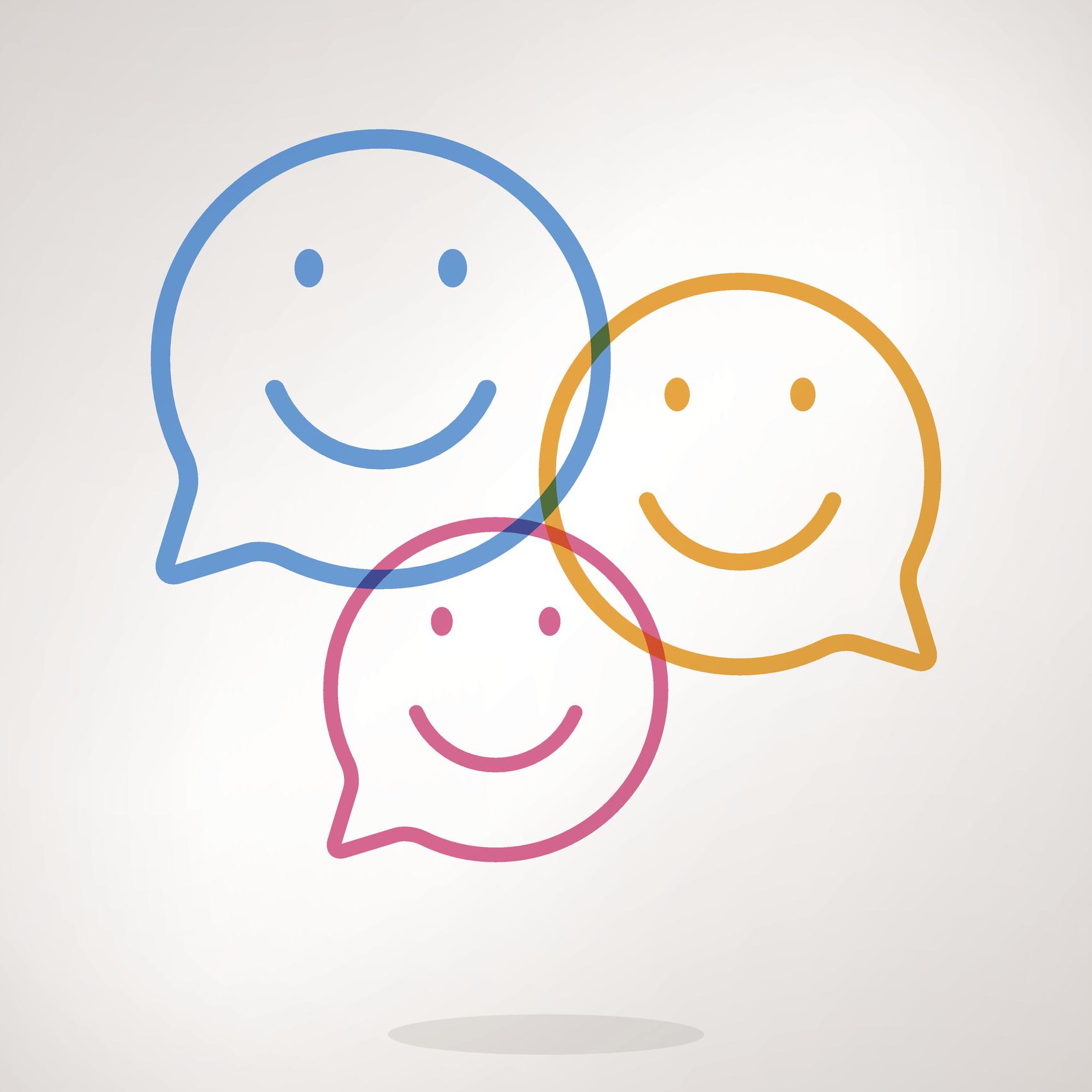 Speech bubble emojis