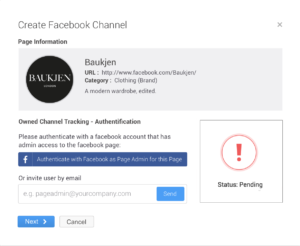Facebook Page Channel Creation for Owned Pages