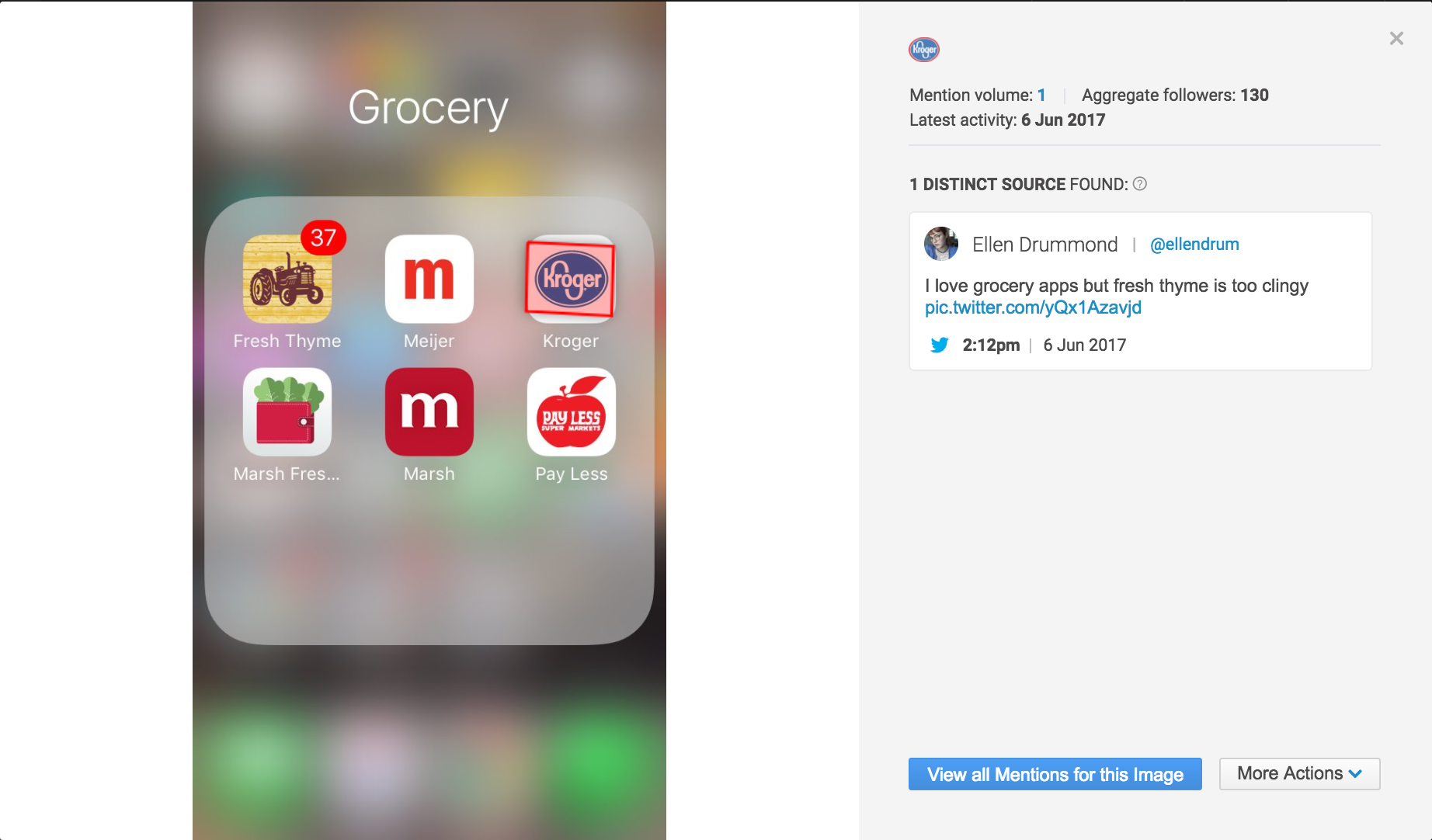 Brandwatch Image Analysis for Kroger